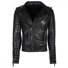 designer black motorcycle leather jacket