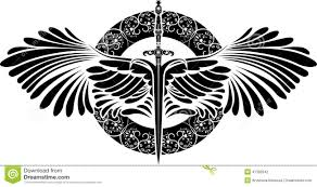 Images For Protection Symbol Tattoos черно бело трафаретное