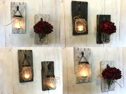 Large Rustic Candle Wall Sconces Iron Holders. Rustic Metal Candle Wall  Sconces Wood.