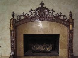 custom made carved fireplace mantel