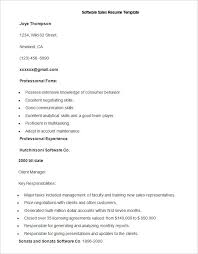 Sales Resume Templates Word