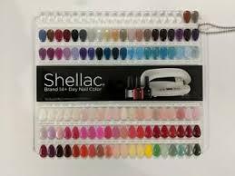 Details About Cnd Shellac Painted Color Chart Nail Palette 102 Colour Sampler