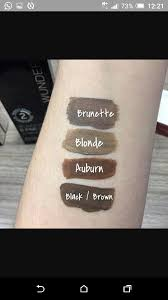 Wunderbrow Shades Chart Wunderbrow Wunder2 Swatches Beauty Makeup Tips Skin