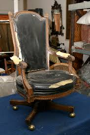 vintage leather desk chair. Modren Vintage BEFORE  Antique Leather Desk Chair And Vintage Leather Desk Chair R