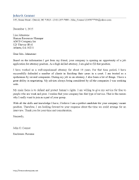 Attorney Cover Letter Samples Job And Resume Template
