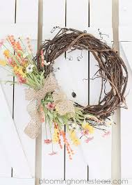 brighten up your home with a diy spring wreath for your front door i
