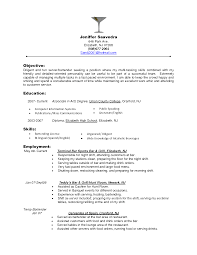 Sample Resume Objectives For Food Service Sample Resume Objectives