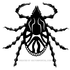 bug clipart black and white. tick bug clip art free vector clipart black and white