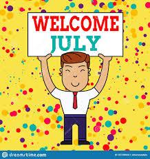 Scrittura Della Nota Di Benvenuto Luglio Foto Di Ufficio Che Mostra Il  Calendario Settimo Mese 31 Giorni Terzo Trimestre Uomo Sor Illustrazione di  Stock - Illustrazione di fiori, luglio: 161378924