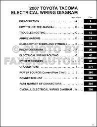 toyota tacoma wiring diagram wiring diagrams best 2007 toyota tacoma pickup wiring diagram manual original 2006 toyota tacoma wiring diagram 2007 toyota tacoma