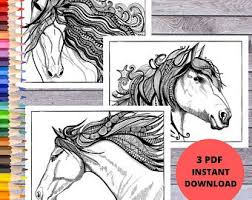 I printed them smaller and included them in some thanksgiving favor bag for coworkers. Horse Coloring Page Etsy