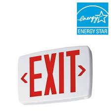 lithonia lighting 2 light plastic led white exit sign emergency exit sign installation instructions at Exit Sign Wiring Diagram