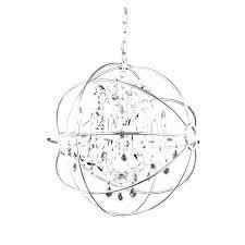 small orb chandelier brushed nickel crystal orb 6 light chandelier nickel orb chandelier dining room bedroom