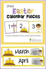 Yellow Calendar Pocket Chart Easter Pocket Chart Calendar Pieces A Free Printable With