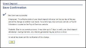 Direct Deposit Verification Student Direct Deposit Student Financial Services