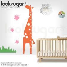 Baby Nursery Wall Decals Giraffe Growth Chart Wall Stickers 0007