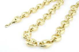 gucci necklace mens. image is loading 1-10th-gold-puffed-anchor-mariner-gucci-9mm- gucci necklace mens