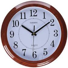 office clocks. Image Is Loading Wall-Clock-Classic-Round-Wood-Frame-Quiet-Sweep- Office Clocks