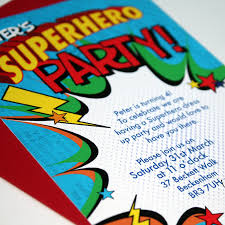 superheroes party invites personalised superhero party invitations by bonnie blackbird