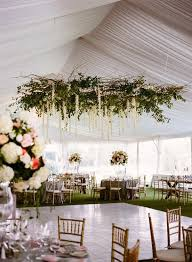2019 trending tented wedding reception ideas with greenery chandelier