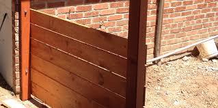 horizontal wood fence panels. Horizontal Slats - Modern Fence Wood Panels