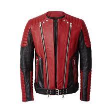 leather biker jacket 349