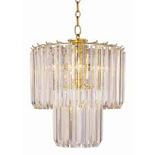 bel air lighting stewart 5 light polished brass chandelier with beveled acrylic crystal shades
