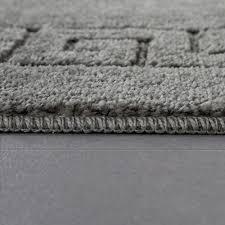 Badezimmer Teppich Bordüre Grau Teppichde