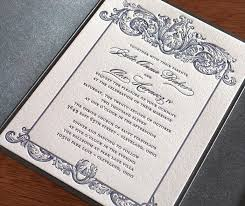 Baroque Wedding Invitations Custom Letterpress Wedding Invitation Gallery Keri Invitations