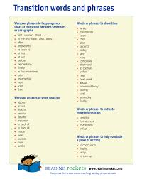 Transistion Words Transitional Words Phrases 3 Reasons To Use Them Writers Write