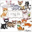 Открытки с котами нарисованными