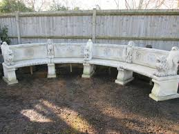 curved garden bench. Reclaimed Impressive Curved Stone Garden Bench With Lions