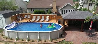 above ground pools deck ideas. Fine Ground Cool Oval Above Ground Pool Deck Ideas Homestylediary Regarding Size 1522 X  677 For Pools O