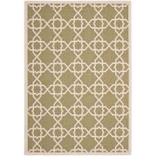 safavieh courtyard green beige 5 ft x 8 ft indoor outdoor area