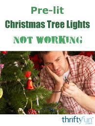 pre lit christmas tree lights not