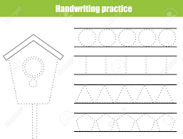 Penmanship Practice Sheet Handwriting Practice Sheet Educational Children Game Printable