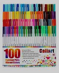 Caliart Markers 100 Color Chart 44 Accessible What To Draw With Caliart Markers
