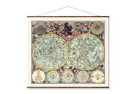 Hanging Celestial Chart Art Print Canvas Maps Vintage Maps World Maps City Maps Maps Vintage