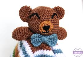 Free Crochet Lovey Pattern Enchanting The Cuddliest Crochet Bear Lovey Sewrella