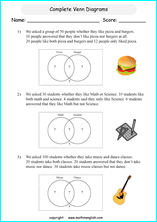 Printable Venn Diagram Worksheets For Grade 6 Or 7 Math