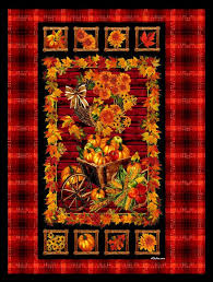 Easy Fabric Panel Quilt Kit Autumn Harvest Fall Leaves Wall Nap ... & Easy Fabric Panel Quilt Kit Autumn Harvest Fall Leaves Wall Nap Quilt -  product images of Adamdwight.com