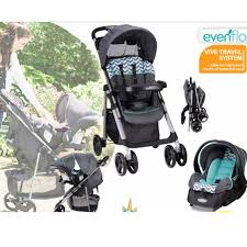 evenflo vive travel system full size stroller infant cat cat base
