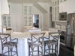 inspiring grey kitchen walls. Furniture. White Wooden Kitchen Cabinet And Granite Bar Top Added By Grey Barstools Inspiring Walls N