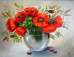 flower painting handmade livemaster handmade red poppies oil painting flowers