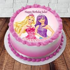 Send Barbie Happy Birthday Cake Online In India At Indiagiftin