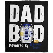Corona Light Case Amazon Com Dad Bod Powered By Corona Light Cute Throw