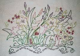 Hand Embroidery patterns to use to make your own table runners ... & My Secret Garden - Embroidery Project ... Adamdwight.com