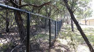 5 ft tall black painted chain link fence