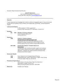 sample new graduate nurse resume free template pediatric nurse resume icu er sample registered