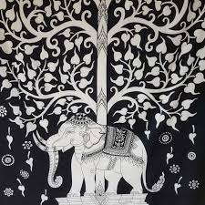 black white tree of life elephant wall hanging tapestry throw 100 cotton tapestries